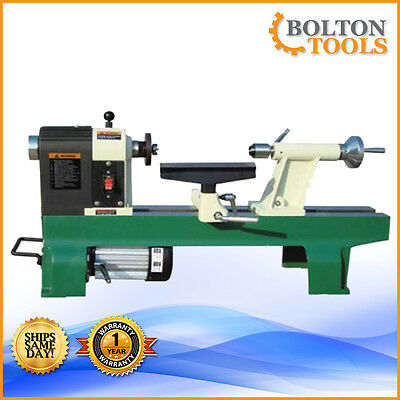 "Bolton Tools 12"" x 16"" Heavy-Duty Bench Top Wood Lathe Free Shipping"