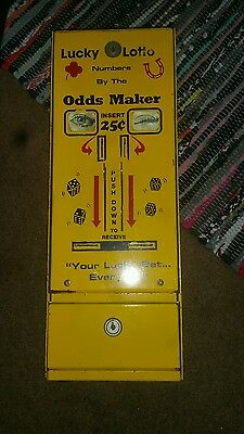 Vintage Ole Doc's Lucky Lotto numbers Hot Box Ramm Vending Promotion