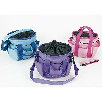 Equestrian Canvas Grooming Bag - Horse Equestrian Carry Bag Kit - Purple