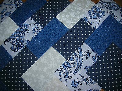 "40 X 4""  Charm Pack Blue & White 100% Cotton Patchwork/quilting/crafts Bw9"