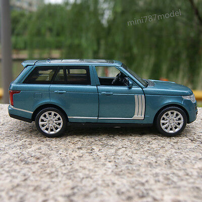 Land Rover Range Rover Model Cars 1:32 SUV Pull Back Toy Blue gift Alloy Diecast