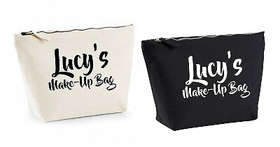 Personalised Make Up Accessory Bag ANY Name Birthday Christmas Gift Present Kids