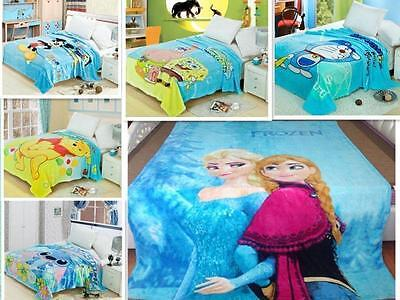 New Soft Plush Velour Cartoon Fleece Blanket Throw 150x200CM Novelty Characters