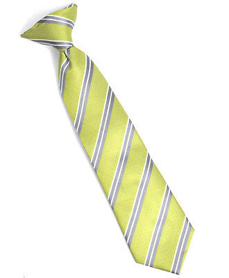 Boy's Youth Lime Dotted Clip On Tie (MPBC2001LI)