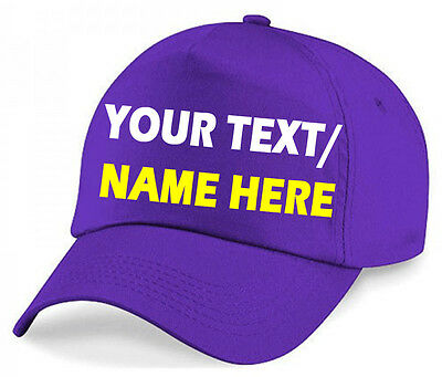 Customise Adults Baseball caps Personalised caps Hat Printed or Plain unisex cap