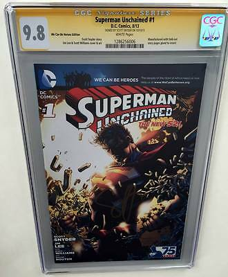 Superman Unchained #1 WCBH Edition CGC 9.8 SS Signed by Scott Snyder Limited 484