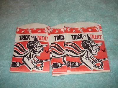 9 Vintage Halloween Mini Trick Or Treat Paper Candy Bags,kidney Foundation