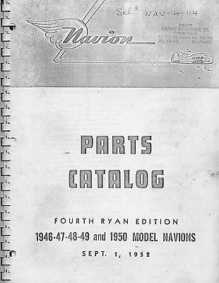 Navion Parts Catalog - Fourth Edition - 1946 - 1950 Models