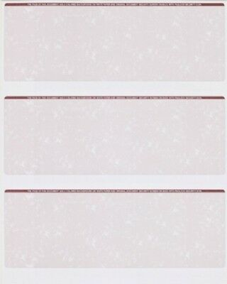50 Sheets - 150 Checks  Blank Check Stock Paper - Burgundy - Three (3) on a Page