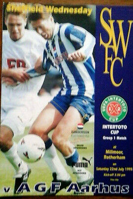 Sheffield Wednesday V Agf Aarhus 22/7/1995 Uefa Intertoto Cup