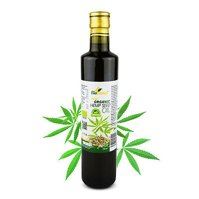 Certified Organic Cold Pressed Cannabis / Hemp Oil 500ml Biopurus