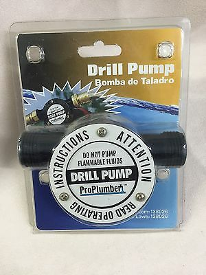ProPlumber CHUCK-PUMP DRILL POWERED WATER PUMP...STANDARD HOSE CONNECTIONS
