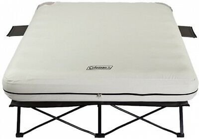 Queen Airbed Cot Air Mattress Steel Frame Electric Pump Portable Camping Sleep