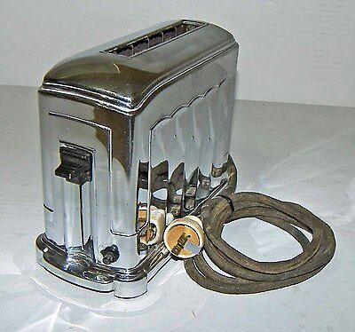 【NICE】Vintage McGraw 1A4 Toastmaster 1-Slot Chrome Art Deco Toaster!