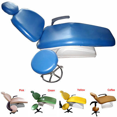 1set 8 Colors PU Leather Waterproof Elastic Dental Chair Seat Cover Protector