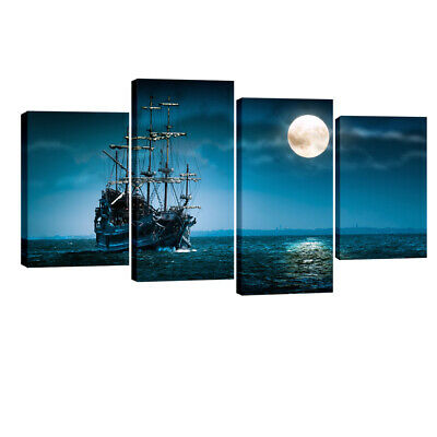 Canvas Prints Painting Picture Home Decor Wall Art Blue Sea Landscape Framed