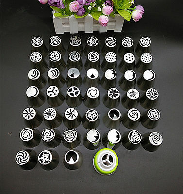 45pc Russian Tulip Flower Icing Piping Nozzles Cake Decoration Tips Baking Tools