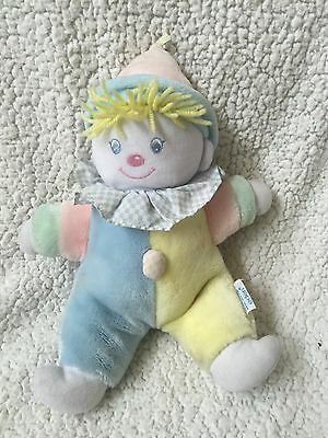 "Vtg Pastel EDEN Plush Baby Toy Musical CLOWN Stuffed You Are My Sunshine 11"" EUC"