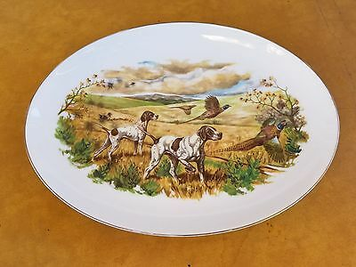 1972 REMINGTON ARMS EMPLOYEES CLUB Platter ILION NEW YORK Hunting Dogs