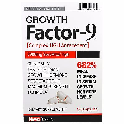Novex Biotech, Growth Factor-9, 120 Capsules Complex HGHAntecedent
