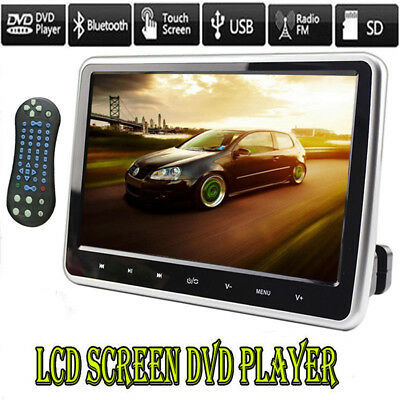 "10"" HDMI Car DVD Player HD Digital LCD Screen Headrest Monitor USB SD IR/FM Game"