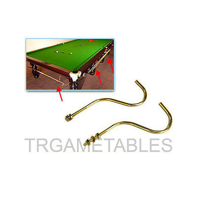 A Pair of Brass Cue Rack / Hanger for Pool Billiard Table Billiards High Quality