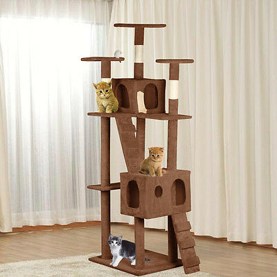 187CM Cat Kitten Tree Tower Condo Furniture Scratching Post Pet Kitty Play House