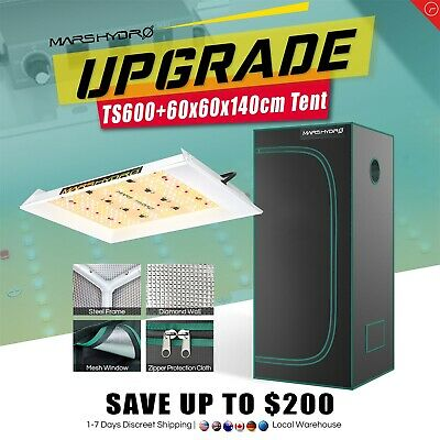 Mars Hydro ECO 300W Led Grow Light Veg Flower Plant +2'x2' Indoor Grow Tent Kit