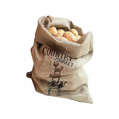 Creative Tops Farmers Market Pack Of 2 Hessian Potato Sacks