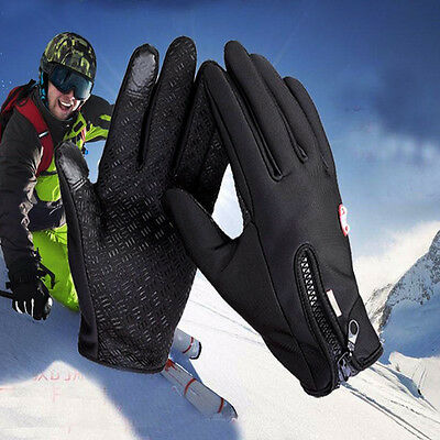 Men Winter Sports Warm Thermal Waterproof Ski Snow Motorcycle Snowboard Gloves