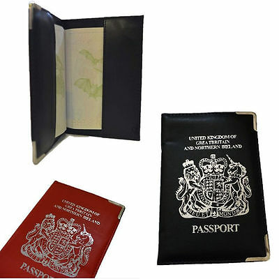 PU Leather Passport Holder For UK And European Passport Protector Cover Wallet