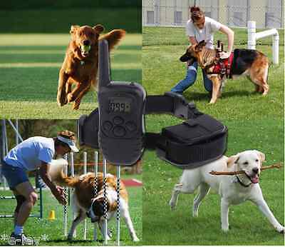 Dog Training Collar With Remote Pet Dog Collars Electric LCD Rechargeable