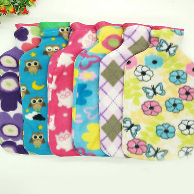 1pc Colorful Hot Water Bag Cloth Cover Hand Po Warm Abdomen Christmas Xmas Gift