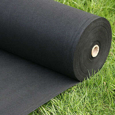 100M x 1M/ 50gsm Weed Control Fabric Porous Membrane Rolls Ground Cover