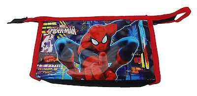 Boys / Adults Marvel Spiderman Toiletry Cosmetic Overnight Wash Bag