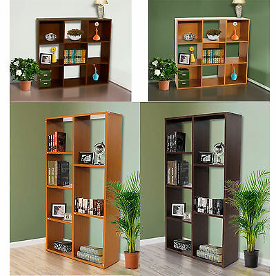 Book Shelf & CD/DVD Shelves Storage Display Unit 6, 7 Tiers and Cube Design New