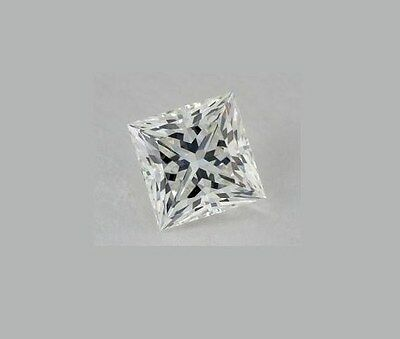 3.00ct Lab Created Russian Diamond Simulant 8.0mm Princess Cut D Flawless