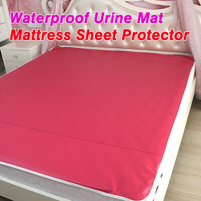 Faux Leather Waterproof Mattress Sheet Protector Pad Cover Bed Washable Adults