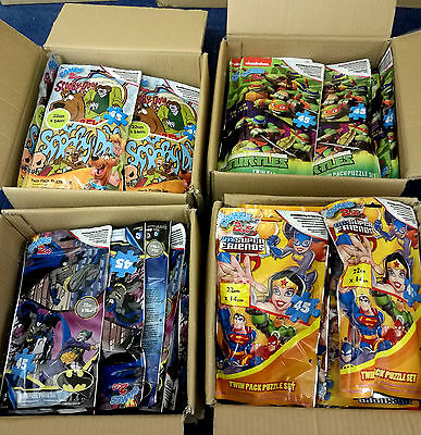 48 x Wholesale Joblot Set of 2 Puzzles Jigsaws Toys Games Scooby Doo Batman bag