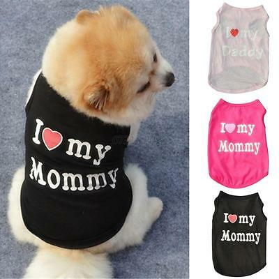 New Pet Dog Apparel Vest Puppy Cat Coat T-shirt Summer Fall Vest Clothes Costume