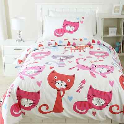 KITTY CAT CATS  KITTEN  SINGLE bed QUILT DOONA COVER SET NEW