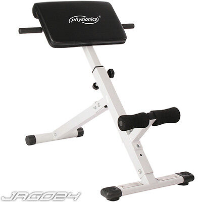 Back Extension Bench 45 Degree Abs Roman Chair Home Gym Exercise Workout Fitness