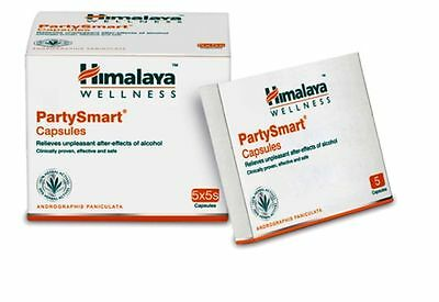 Himalaya Herbals Party Smart 50 Capsules Prevents Hangover & Headache Next Day