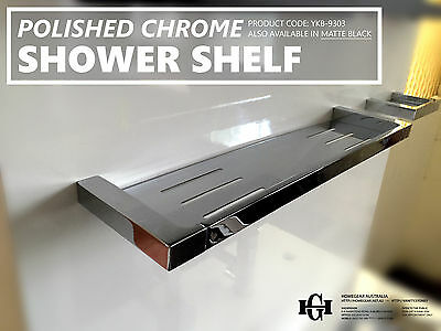 Modern Square Polished Chrome Metal Shower Tray/Shelf/Rack Bathroom Accessories