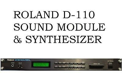 Roland D-110 Multi Timberal Sound Module & Synthesizer Processor