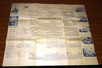 R. M. S. TITANIC Plan Of First Class Accommodation WHITE STAR LINE Reprint