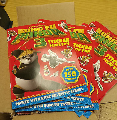 48 x Wholesale Joblot Kung Fu Panda 3 Stickers Learning Books Activity Party