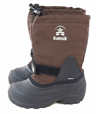 Kamik Kids Snoday Insulated Winter Waterproof Snow Boot Brown Youth Size 1 M