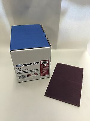 "Norton Bear-Tex 6"" X 9"" Maroon Scuff and Clean Pads 20ct 58000 FREE PRIORITY"