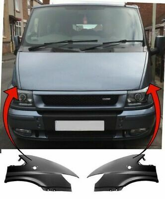 Ford Transit Van 2000-2006 Front Wing Primed Pair Left & Right With Hole New